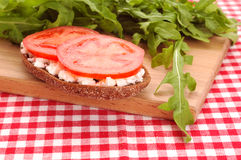 Bread with tomato Stock Images