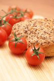 Bread and tomatoes Royalty Free Stock Photo