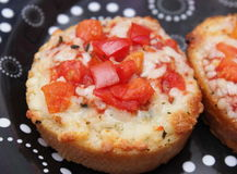 Bread with tomatoes Stock Images