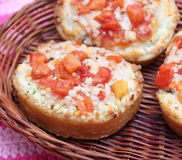 Bread with tomatoes Stock Photo