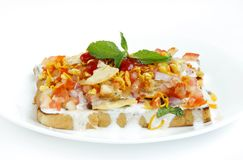 Bread topping with dahi & mixture Royalty Free Stock Photography