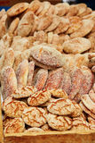 Bread on a traditional Moroccan market in Essaouira, Morocco Royalty Free Stock Photos
