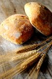 Bread two pices on bakery kitchen Royalty Free Stock Photos