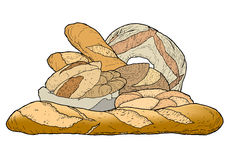 Bread varied Royalty Free Stock Photo