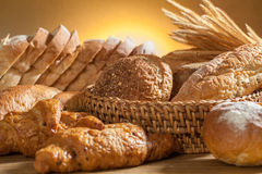 Bread. Variety of bread and bakery royalty free stock images
