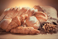 Bread. Variety of bread-Filtered Image stock photography