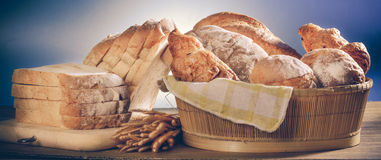 Bread. Variety of bread-Filtered Image stock images