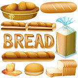 Bread in various kinds Stock Photos