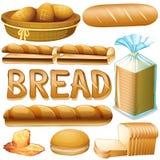 Bread in various kinds. Illustration royalty free illustration