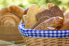 Bread and various pastry Royalty Free Stock Photos