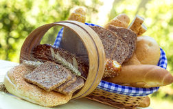 Bread and various pastry Royalty Free Stock Photography
