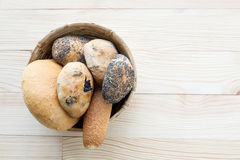 Bread of various types and seeds Royalty Free Stock Photo
