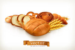 Bread, vector illustration Stock Photo