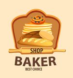 Bread vector label stock illustration
