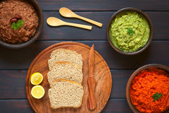 Bread and Vegetable Spreads Royalty Free Stock Photo