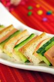 Bread and vegetables Stock Photos
