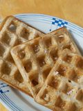 Bread waffle Royalty Free Stock Photo