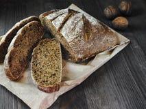 Bread and walnut Royalty Free Stock Photos