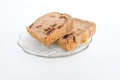 Bread with walnuts and chocolate chips Royalty Free Stock Image