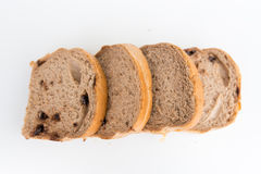 Bread with walnuts and chocolate chips Stock Photography
