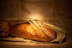 Bread and wheat Stock Photo