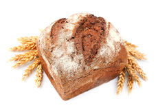 Bread with wheat royalty free stock photo