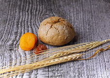Bread and wheat Stock Image