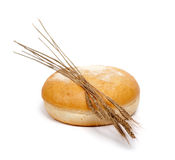 Bread with wheat ears Stock Photo