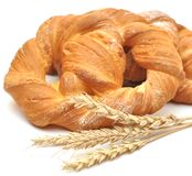 Bread with wheat ears Stock Photography