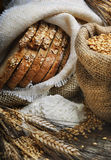 Bread and wheat ears Royalty Free Stock Image