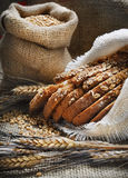 Bread and wheat ears Stock Photo