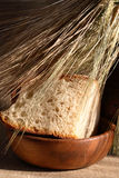 Bread And Wheat Ears Royalty Free Stock Photos