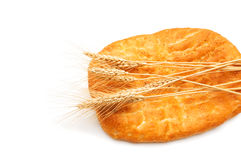 Bread and wheat ears isolated Royalty Free Stock Photo