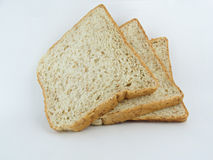 Bread wheat. Laying on the white back ground Royalty Free Stock Photos