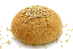 Bread and wheat seeds Stock Photo