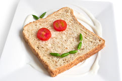 Bread wheat straw as a smiley face. Royalty Free Stock Images