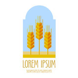 Bread, wheat vector logo design template. farm or Royalty Free Stock Image