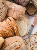 The bread and a wheat. Stock Photos