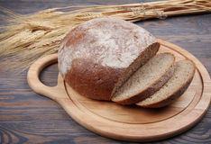 Bread and wheaten ears Royalty Free Stock Photography