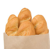 Bread on white Royalty Free Stock Photos