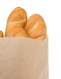 Bread on white Royalty Free Stock Image