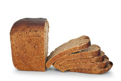 Bread on a white Stock Photography
