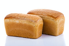 Bread on white background Stock Photography