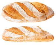 Bread on a white background. Yummy juicy bread on a white background Stock Images