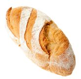 Bread on a white background. Yummy juicy bread on a white background Stock Image