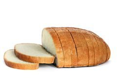 Bread on a white background stock photography