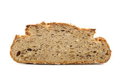 Bread on white background Royalty Free Stock Photography
