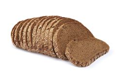 Bread on white background. Royalty Free Stock Image