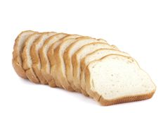 Bread on white background. Royalty Free Stock Photo