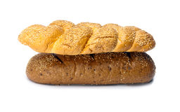 Bread on white background Royalty Free Stock Image